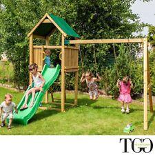 Scivolo e altalena in legno Pippo gioco per giardino 319 x 329 x 265 cm