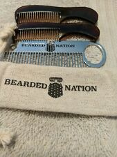 Beard Nation Mustache And Beard Comb Set. With carrying case. free shipping