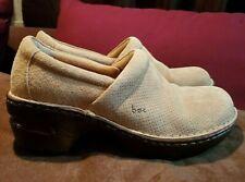Born B.O.C. Tan Suede Clogs Size 7