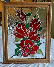 "Handmade Stained Glass Window Panel, for wall or window decoration. 14.5"" x 19""."