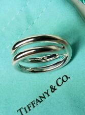 9a8caff5a Tiffany co Paloma Picasso Sterling Silver Crossover Le Circle Ring Sz 6.5