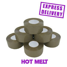 72 ROLLS HOT MELT POWER TAPE BROWN BOX SEALANT 48MMX150M *LARGE PARCEL PACKING*