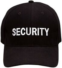 Black Embroidered Security Adjustable Cap