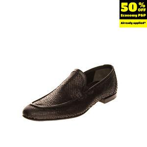 RRP €330 FABI Leather Loafer Shoes LEFT SHOE ONLY 39 UK7 US7.5 Snakeskin Pattern