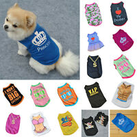 Lovely Casual Various Pet Puppy Small Dog Cat Pet Clothes Vest T Shirt Apparel