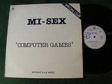 "MI-SEX : Computer games 12"" MAXI 1979 French PROMO CLUB & JUKE-BOX CBS SDC 28"