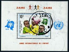 Zaire 1979 souvenir sheet Int.l Children's Year USED Sc  CV $10.50 180117079