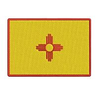 NEW MEXICO STATE FLAG embroidered iron-on PATCH EMBLEM applique