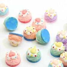 Kawaii Flatback DIY Miniature Strawberry Cake Resin Cabochons Scrapbooking 10Pcs