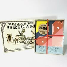 Dollar Bill Origami Kit by Won Park & Lollipop Origami Notes Paper Crafting New