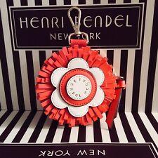 Henri Bendel Mandarin Orange Flower Coin Purse, Bag Charm- Brand New