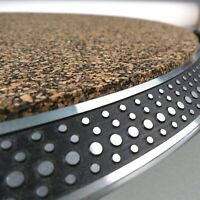 3mm Slipmat PREMIUM Nitrile Rubber & Cork AUDIOPHILE Turntable Mat Record Player
