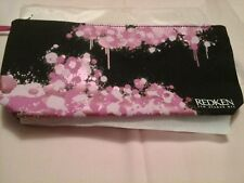 Nero & Rosa Sheen Con Cerniera Da Viaggio/Makeup Bag 25 x 12 cm 5th Avenue NY Redken
