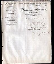 """LES MARS (23) FOUR à CHAUX / BOIS / HOTEL & CAFE """"Auguste DELARBRE"""" en 1908"""