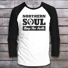 NORTHERN SOUL BASEBALL T-SHIRT LONG SLEEVE MUSIC TOP MOD TEE WIGAN VINTAGE SKA