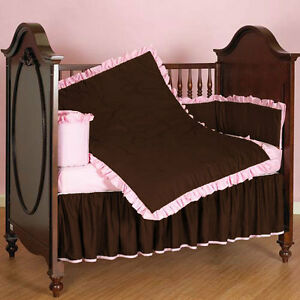 Baby Cradle Ruffle Reversible Bedding Set Fitted Comforter Bumper