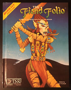 FIEND FOLIO - Advanced Dungeons & Dragons AD&D Gygax TSR 2012 1981 NM