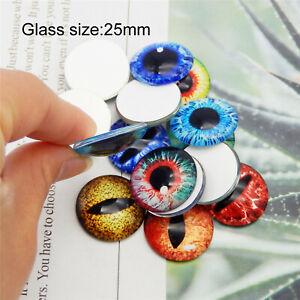 Flatback Glass Dragon Eye Animal Eye Decor Embellishment Cabochon DIY Crafting