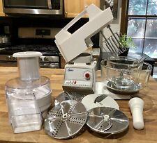 Vintage White Oster Kitchen Center 12 Speeds with Multiple Accessories USA