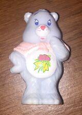 """CARE BEARS 1984 2"""" Grams Bear PVC Grandma Flower Cake Topper AGC OOP RARE HTF"""