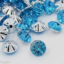 20 Blu Chiaro Acrilico Stass cristallo bottoni elegante bestseller 13mm cucire realizzerà #