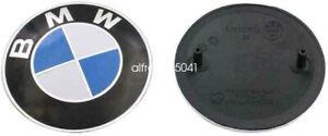 GENUINE OEM BMW Hood Emblem / Roundel / Badge E46 3 series w/ Grommets INCLUDED
