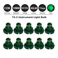 10PCS Green T4 / T4.2 NEO WEDGE LED GLOBES SMD LED DASH CLUSTER BULB 12V LAMP DC