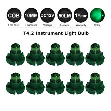 10PCS Green T4 / T4.2 NEO WEDGE LED GLOBES SMD LED DASH CLUSTER BULB 12V LAMP DC
