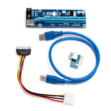 USB3.0 PCI-E PCI Express 1x To 16x Adapter Riser Card Extension Powered Cable