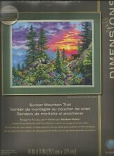 Counted Cross Stitch Kit Sunset Mountain Trail Dimensions Gold Collection New!