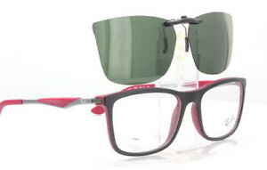 Custom Fit Polarized CLIP-ON Sunglasses For Ray-Ban RB7029 55x17 Rayban 7029