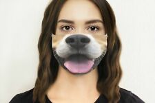 Funny HAPPY DOG Mouth, Cute Face Mask, Reusable Face Mask, Face Mask Fashion,...