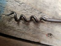 Antique wood handled corkscrew rare find shabby chic retro vintage