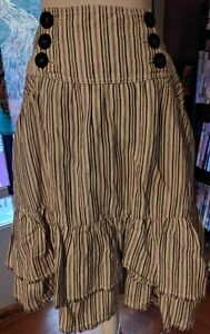 Kimchi & Blue Bustle Skirt Size 5 EUC So Cute! Hi Low Ruffles Pockets