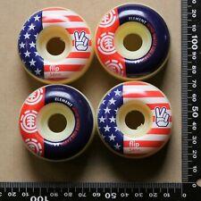 2 Element/2 Flip brand mis-matched skateboard wheels, 54mm