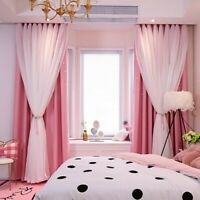 2-layer Curtains Blackout Floor Curtain Starry Curtains Home Bedroom Decoration