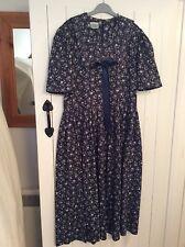 VINTAGE LAURA ASHLEY DRESS size 12/14 SAILOR COLLAR DROPPED WAIST. VGC