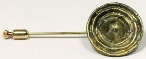 Ancient Roman Legionnaire Officer Gold-Plated Cloak Button (Now Stick Pin) AD300