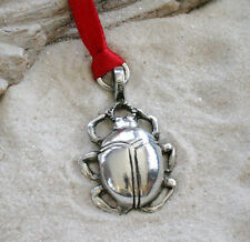SCARAB BEETLE EGYPT Pewter Christmas ORNAMENT Holiday