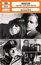 FICHE CINEMA : MORITURI - Brando,Brynner 1965 Saboteur : Code Name Morituri