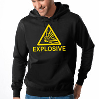 Explosive Warnhinweis Sprüche Fun Comedy Kapuzenpullover Hoodie Sweatshirt