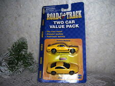 MAISTO ROAD & TRACK PONY '70 BOSS MUSTANG & '99 MUSTANG MIP TWO CAR VALUE PACK