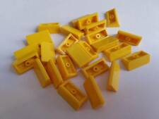Lego Yellow Slope 30 1x2, Part 85984, Element 4550348, Qty:25 - New