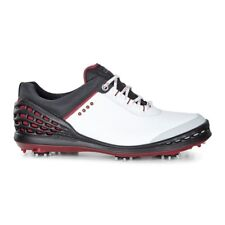Ecco Mens Cage Golf Shoes White/Black. Extra Width Option  Size 41 (UK 7.5)