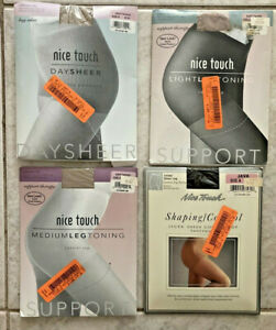 4 Nice Touch sz A Pantyhose Taupe Java Drift Control /Support Therapy /Day Sheer