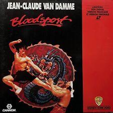 LASERDISC - BLOODSPORT-  VF/VO - PAL - Jean-Claude Van Damme, Donald Gibb,