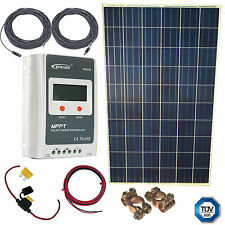 265W Solar Kit - MPPT Controller, Cable, Fuse + Terminals 12Yr Panel WTY