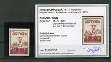 KROATIEN Nr.72 PU PH (*) PROBEDRUCK FARBBEFUND ZRINJSCAK BPP (128158)