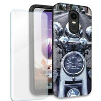 Motorcycle Chopper Double Layer Case /Tempered Glass Protector For LG Stylo 4