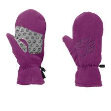 Jack Wolfskin Boys Fleece Mittens Purple Sports Outdoors Warm Breathable